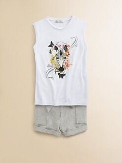 Little Paul & Joe - Girl's Zebra Print Tee