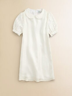 Little Paul & Joe - Girl's Eyelet-Sleeve Dress