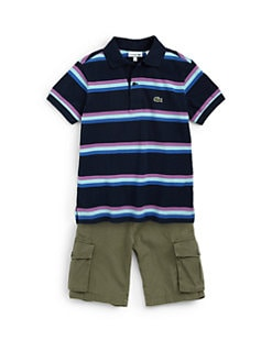 Lacoste - Boy's Striped Piqué Polo Shirt