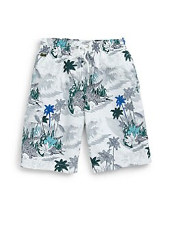 Lacoste - Boy's Palm Tree Swim Trunks