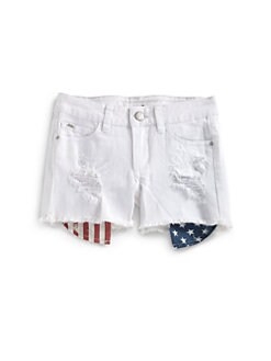 Joe's - Girl's Flag-Printed Pocket Denim Shorts