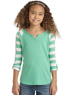Splendid - Girl's Striped Sleeve Tee