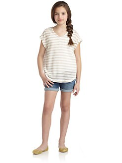 Splendid - Girl's Disco Stripe Knit Top