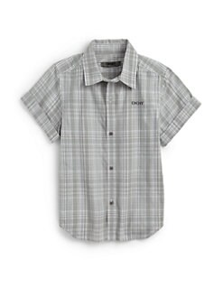 DKNY - Boy's Seashore Plaid Shirt