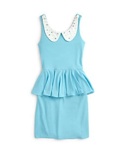 Un Deux Trois - Girl's Pearl Peplum Dress
