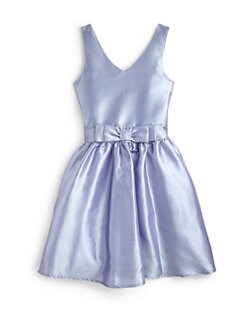 Un Deux Trois - Girl's Jackie O Taffeta Dress