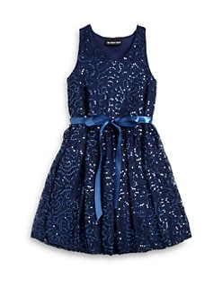 Un Deux Trois - Girl's Sequin Lace Dress