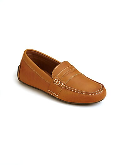 Sale alerts for Ralph Lauren Boy's Telly Leather Loafers - Covvet