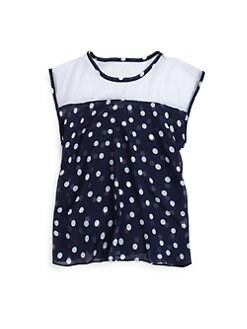 Sally Miller - Girl's Chiffon Polka Dot Top
