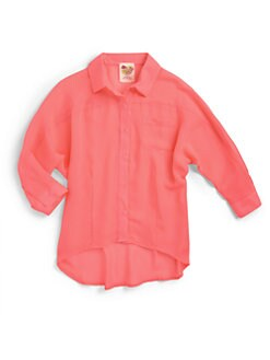 Kiddo - Girl's Chiffon Hi-Lo Blouse