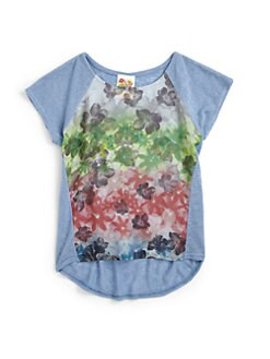Kiddo - Girl's Ombre Floral Tee
