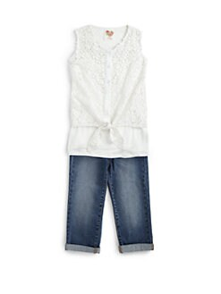 Kiddo - Girl's Lace Tie-Front Top