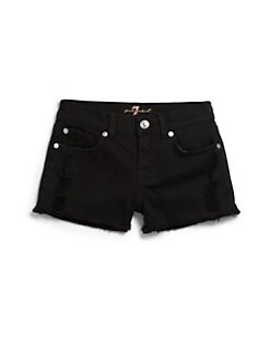 7 For All Mankind - Girl's Cutoff Denim Shorts