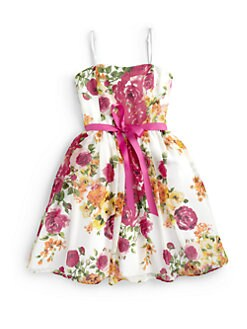 Un Deux Trois - Girl's Floral Party Dress