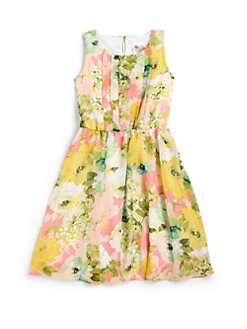 Kiddo - Girl's Floral Pleated Dress