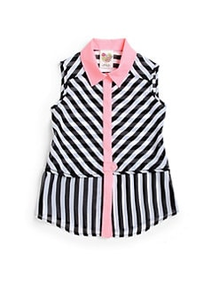 Kiddo - Girl's Striped Sleeveless Top