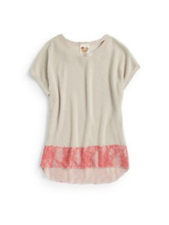 Kiddo - Girl's Two-Tone Top