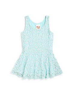 Kiddo - Girl's Lace Peplum Tank Top