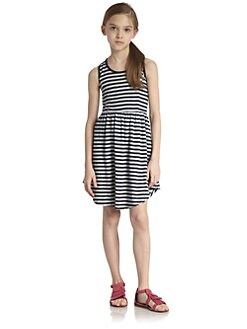 Splendid - Girl's Pointelle Stripe Dress