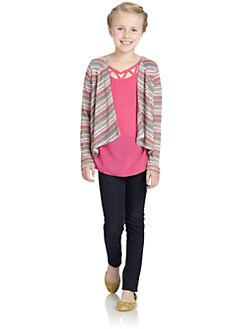 Little Ella - Girl's Striped Ema Wrap