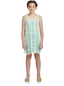 Little Ella - Girl's Hailee Crochet Tank Dress