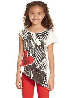DKNY - Girl's Abstract Heart Top
