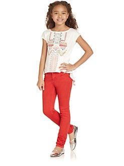 DKNY - Girl's Jolene Embroidered Tee