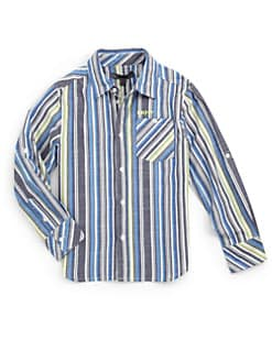 DKNY - Boy's Striped Cosmic Shirt