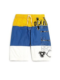 Diesel - Boy's Colorblock Swim Trunks