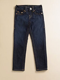 True Religion - Girl's Casey Dark Rinse Denim Jeans
