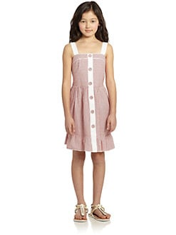 KC Parker by Hartstrings - Girl's Striped Oxford Dress