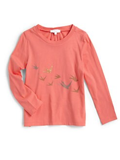 Chloe - Girl's Bird Print Tee