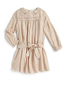 Chloe - Girl's Studded Twill Dress