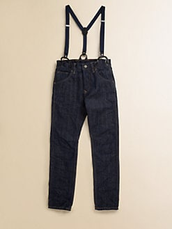 Scotch Shrunk - Boy's Slim-Fitting Jeans With Suspenders