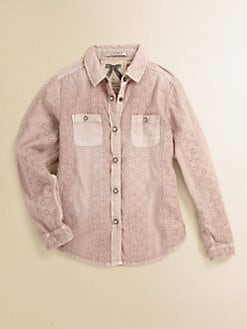 Scotch Shrunk - Girl's Broderie Eyelet Shirt