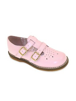 Footmates - Infant's, Toddler's & Girl's Leather Twin T-Straps