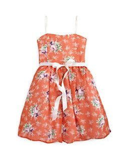Un Deux Trois - Girl's Floral Tulle Party Dress