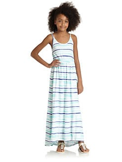 Splendid - Girl's Painterly Striped Maxi Dress