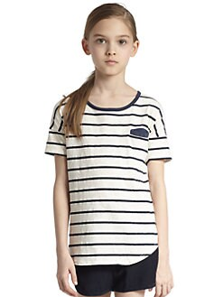Splendid - Girl's Venice Speckle Striped Tee
