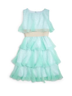 Un Deux Trois - Girl's Tiered Chiffon Evening Dress