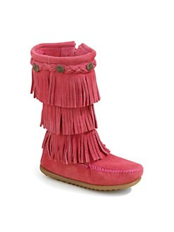 Minnetonka - Toddler's & Girl's Three-Layer Fringe Boots