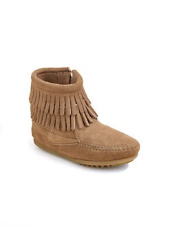Minnetonka - Toddler's & Girl's Suede Fringe Tramper Boots