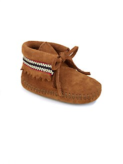 Minnetonka - Infant's Suede Braid Booties