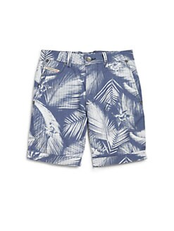 Diesel - Boy's Hawaiian Print Swim Trunks