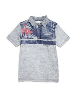 Diesel - Boy's Hawaiian Print Polo Shirt