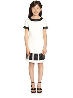 KC Parker by Hartstrings - Girl's Pleather Ponte Dress