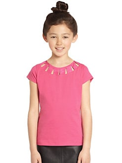 KC Parker by Hartstrings - Girl's Cutout Knit Top