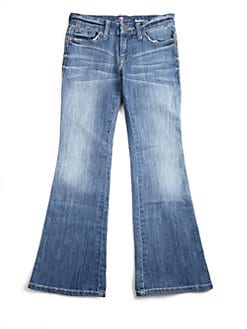 7 For All Mankind - Girl's Light-Wash Bootcut Jeans