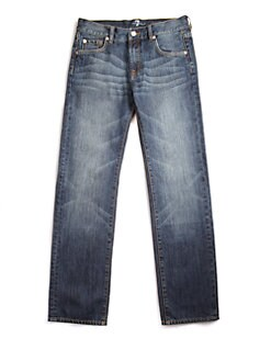 7 For All Mankind - Boy's Faded Jeans