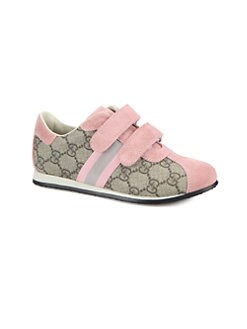 Gucci - Kid's Icon GG Grip-Tape Sneakers